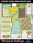Country Sunflowers Recipe Book