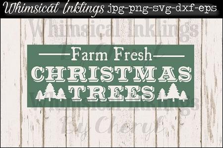 Fresh Christmas Trees Svg.Farm Fresh Christmas Trees Vintage Sign Svg