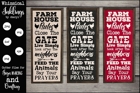 Farmhouse Rules Version Two Svg