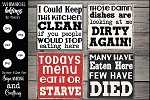 Kitchen Humor Magnet-Sign SVG Set