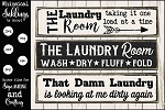 Laundry Room Trios SVG Sign Set