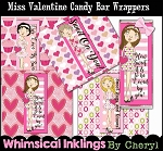 Miss Valentine Candy Bar Wrappers