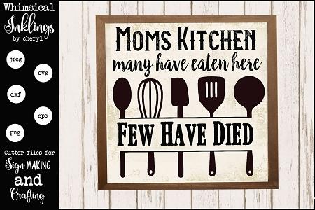 Moms Kitchen Svg