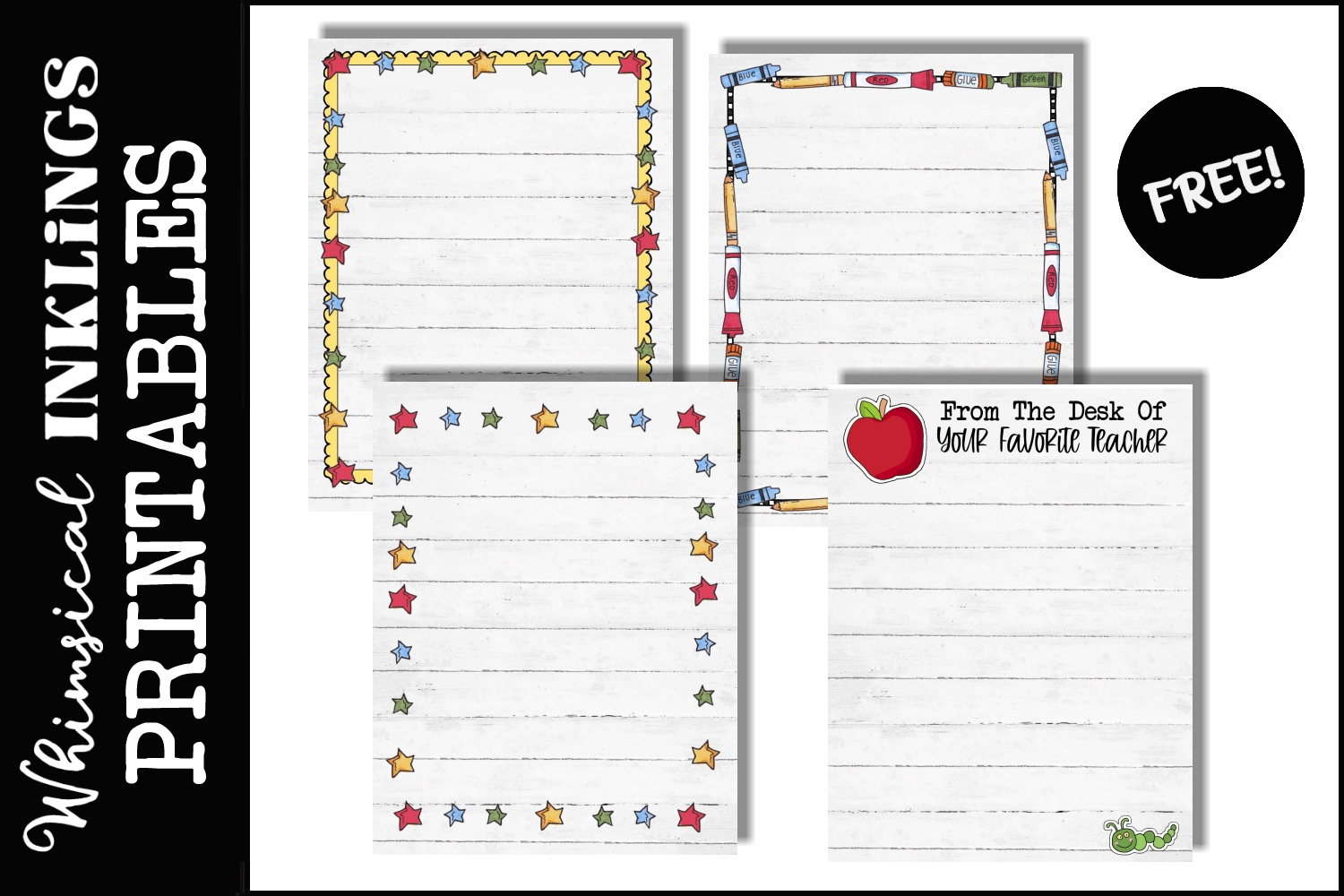 FREE School Days Printable Notepads
