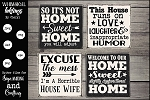 Horrible Housewife SVG Magnet-Sign Set