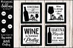 All About Wine SVG Set