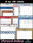 All Boy 2018 Calendar Set
