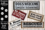 All Dogs Welcome SVG set
