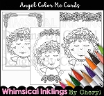 Angel Color Me Cards