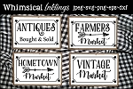 Antique Sign Collection SVG's