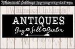 Antiques Sign SVG