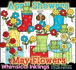 April Showers May Flowers Clipart Collection