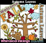 Autumn Leaves Clipart Collection