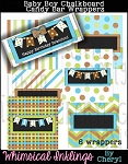 Baby Boy Chalkboard Candy Bar Wrappers