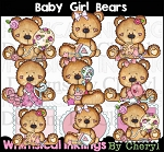 Baby Girl Bear Clipart Collection