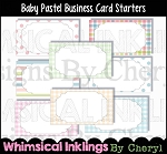 Baby Pastel Business Card Starters