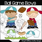 Ball Game Boys Clipart Collection