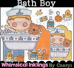 Bath Boy Clipart Collection