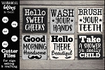 Bathroom Funnies SVG Set