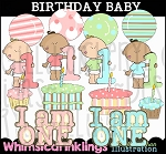Birthday Baby Clipart Collection