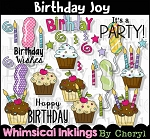 Birthday Joy Clipart Collection