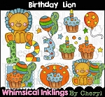 Birthday Lion Clipart Collection