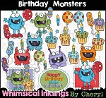 Birthday Monsters Clipart Collection