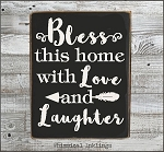 Bless this home with love and laughter SVG