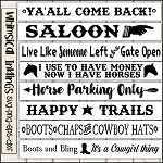 Boots Chaps and Cowboy Hats SVG Sign Bundle