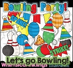 Bowling Fun Clipart Collection