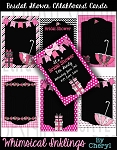 Bridal Shower Chalkboard Cards