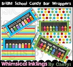 Bright School Candy Bar Wrappers