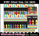 Bright School Soup Can Labels