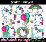 Bright Unicorn Clipart Collection