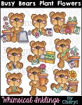 Busy Bears Plant Flowers RESELLERS LIMITED SET