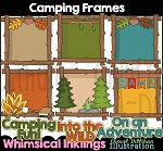 Camping Frames Clipart Collection