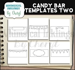 Candy Bar Templates TWO