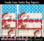 Candy Cane Santa Bag Toppers