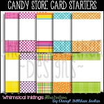 Candy Store Card Starters