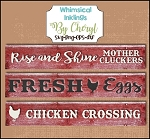 Chicken  Love SVG Cutter File Set