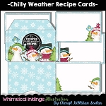 Chilly Weather Recipe Cards