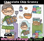 Chocolate Chip Granny Clipart Collection