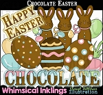 Chocolate Easter Clipart Collection