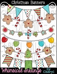 Christmas Banners Clipart Collection