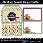 Christmas Cookies Recipe Cards