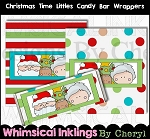 Christmas Time Littles Candy bar Wrappers