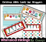 Christmas Lights Candy Wrapper Set