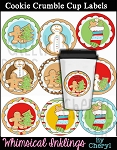 Cookie Crumbles Cup Labels