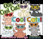 Cool Cats Clipart Collction