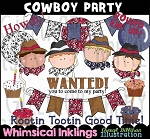 Cowboy Party Clipart Collection